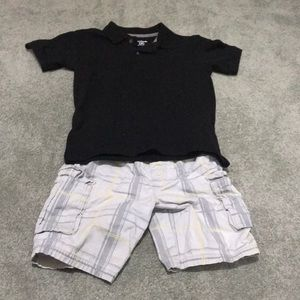 Other - Matching polo shirt and cargo shorts set